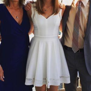 White skater style dress